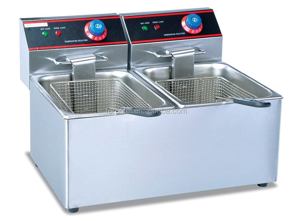 CE Approval kitchen equipments Cooking Appliances 1-Tank and 1-Basket Fryer electric fryer