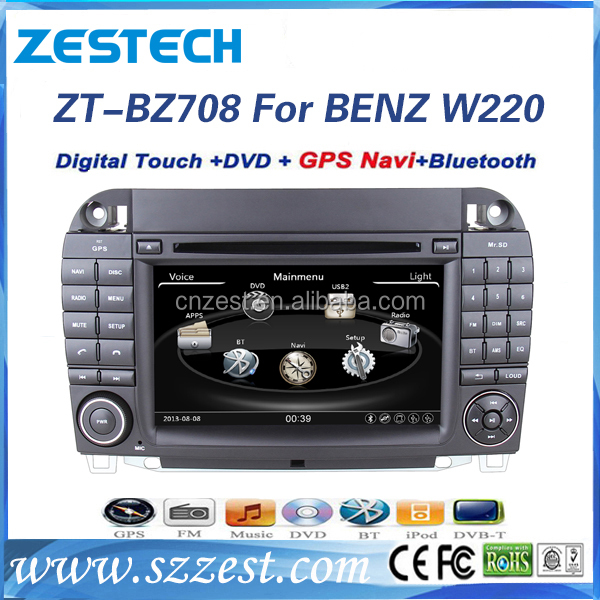 2 din car dvd gps for Mercedes Benz S Class W220 S350 S500 double din car dvd player with radio BT 3G car dvd gps player