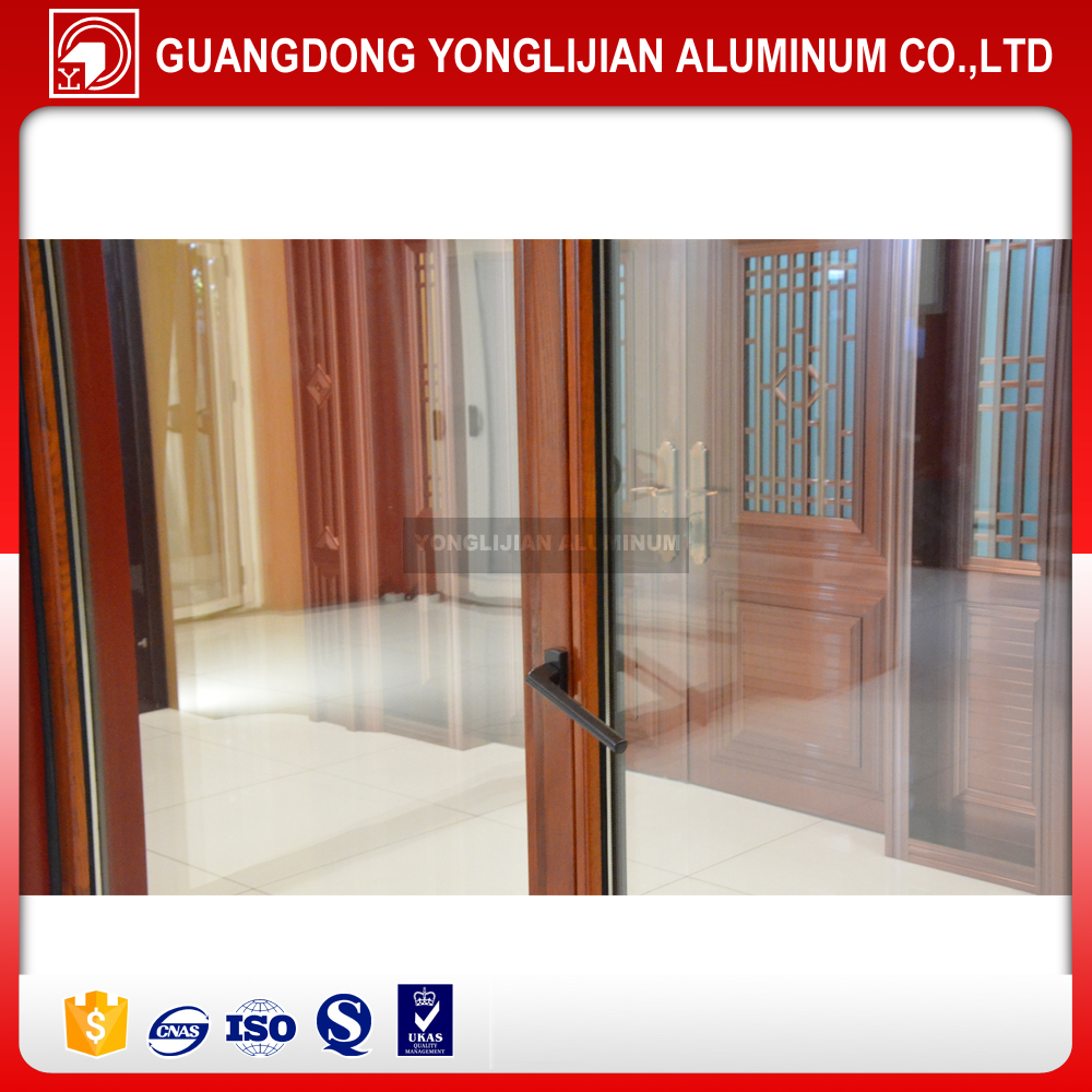 Horizonal moving wood clad aluminium window, aluminum awning window, double hung window