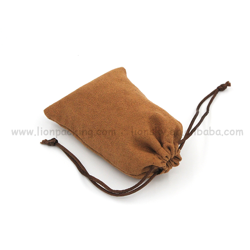 China small drawstring watch suede fringe bag