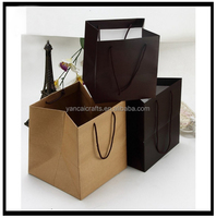 New Arrived custom OEM kraft paper small size cheap handmade square bottom blank recycled packing bag