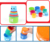 Educational toys colorful cartoon style plastic stacking cups for baby