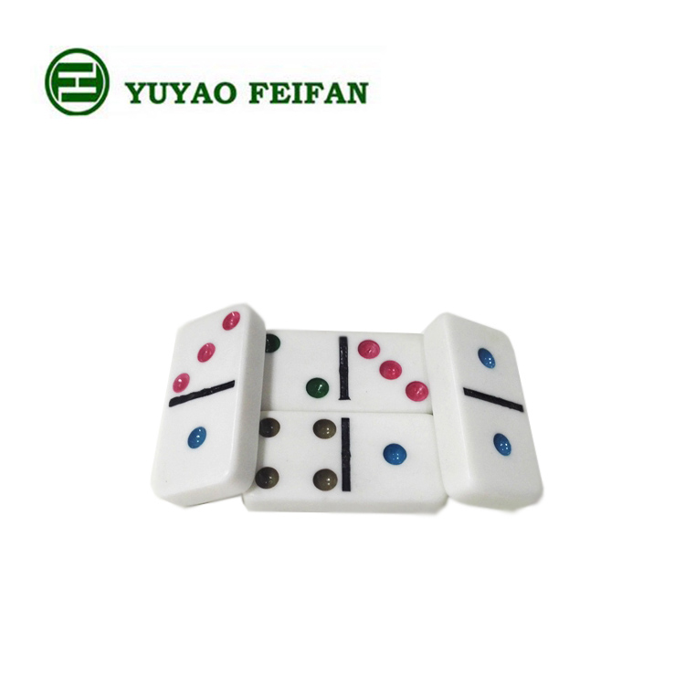 wholesale Double Six Plastic domino rally,Customized colored