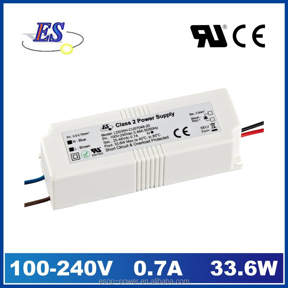 ES 240VAC 33.6W 700mA AC-DC Constant Current LED Driver Power supply