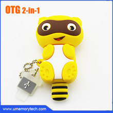 Raccoon style cartoon anime OTG usb 3.0 thumb pen drive 16gb