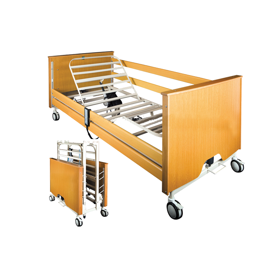 High quality Hospital furniture medical Wooden Hospital Bed folding medical Bed
