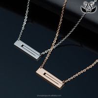 Wholesales Titanium Bar Pendant Plated Cutting Accessories Necklace