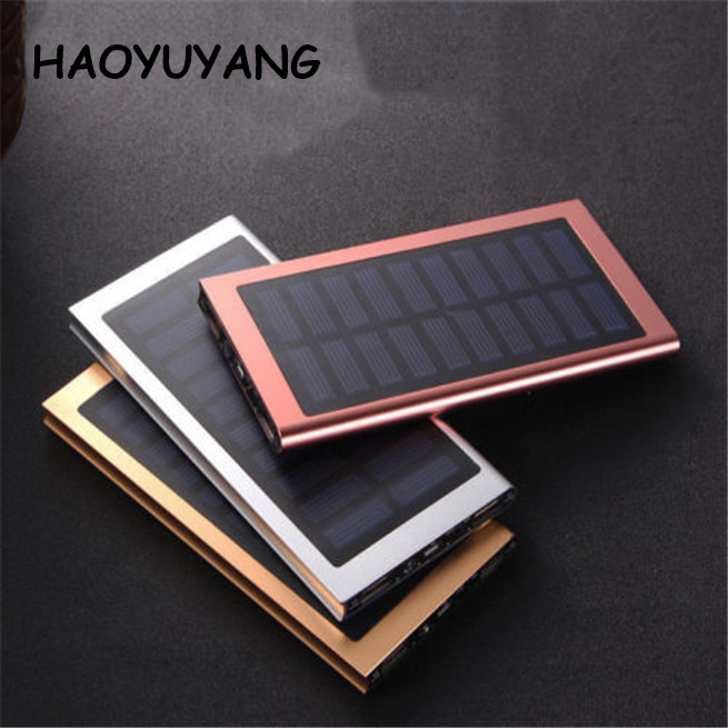 Outdoor Waterproof Solar Power Bank Portable Colorful Mobile Phone Battery Solar Charger 10000mAh For Mobile Phone Charger