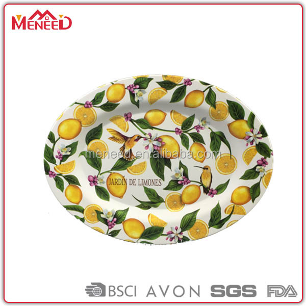 Fake porcelain plates melamine wholesale oval dinner plates
