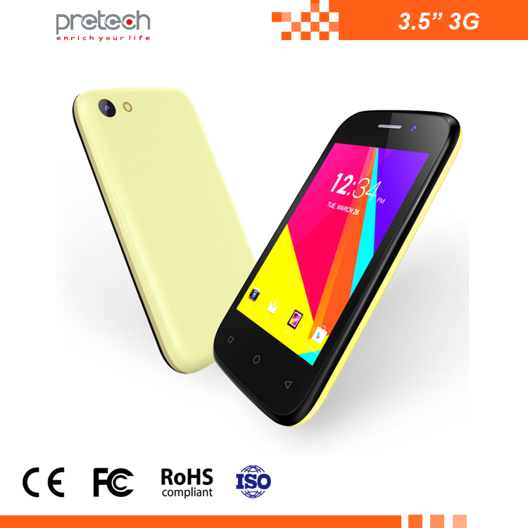 Factory OEM cheapest entry level 3.5 inch cellphone 3G WCDMA android smartphone 480x320 TN SC7715 mobile phone dual sim card