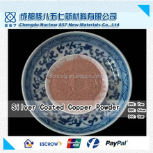 Ag30% spherical/flake/dendritic silver coated copper powder