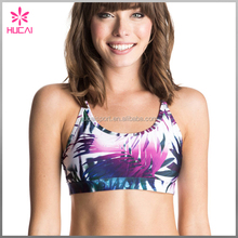 wholesale chinese top underwear custom printed padded sports bra for women