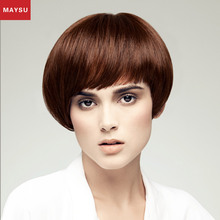 Factory Direct Price100% Virgin Brazilian Hair Bob Style Short Brown Full Lace Wig for White Women