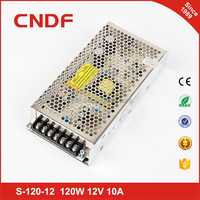 CNDF single output type approved 2 years gurantee 120W 12v 10amp smps