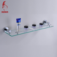 Elegant bathroom single tier simple glass shelf