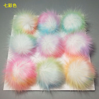 Pom Pom For Beanie Hats, Wholesale Snap On Pompom, Detachable Faux Fur Ball/ Fake Fur Pompoms For Keyring / Bag