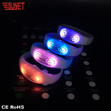 New Product More Function RGB Custom Programmable Remote Controlled Flashing Led Silicone Bracelet Light Up Wristband