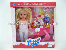 Battery operated 13 inches baby doll that cries with 2 clothes