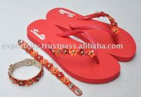 Sunne-Flip FLEUR flower Rubber Flip Flop (bracelet optional)