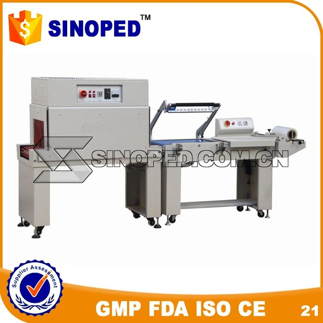 manual-automatic pe film shrinking wrapping machine for stationery