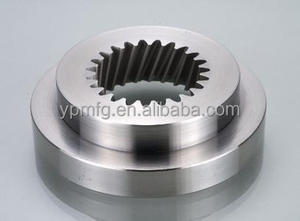 custom precision mechanical parts manufacturer, cnc processing spare parts, cnc machining transfer gear flange/ bevel/ worm gear