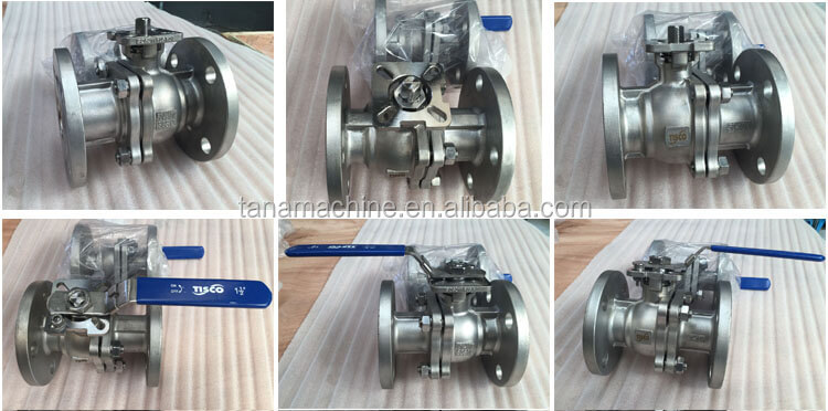 JIS 10k flanged floating stainless steel ball valve with with flanged connection