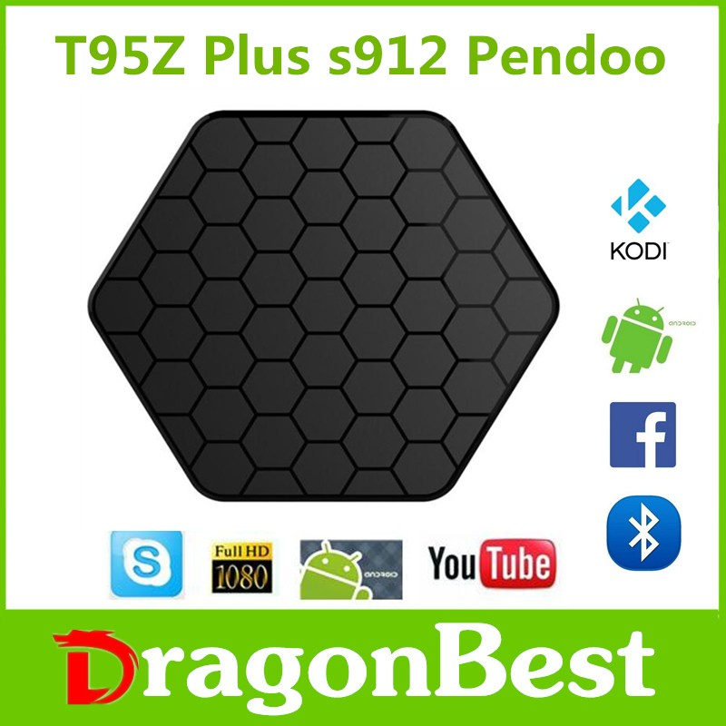 New arrival Hot Selling S912 Amlogic T95z Plus 2g 16g Android 6.0 Marshmallow Quad Core Tv Box