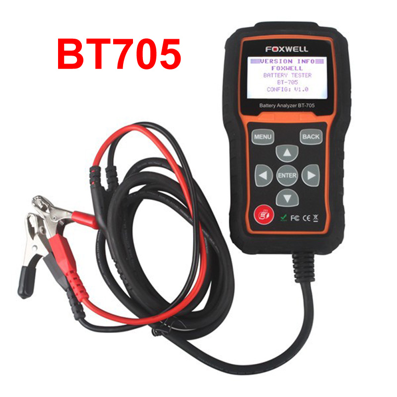 Original Foxwell BT705 12V Battery Analyzer Tester Directly Detect Bad Car Cell Battery For Car Repair tool