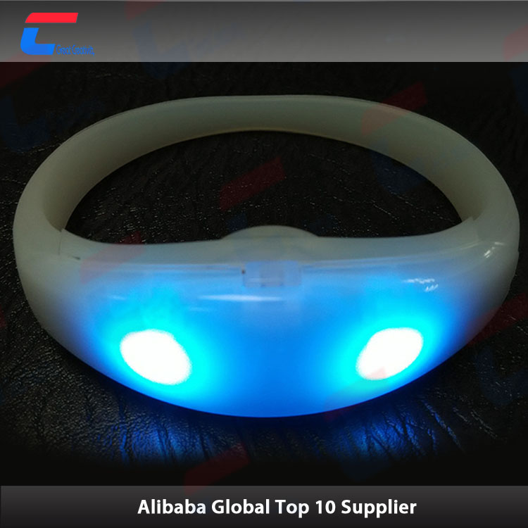 voice controlled 13.56mhz rfid nfc led silicone wristband with colorful shell