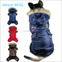 New cotton USA Flying Dog Clothes Warm Winter Air force Jacket for large dog