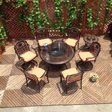 Commercial outdoor korean bbq grill table for RH425