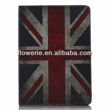 FL3271 2013 Guangzhou hot selling retro uk flag wallet leather flip case for ipad air 5