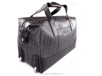new design leather travel bag men's carry on luggage