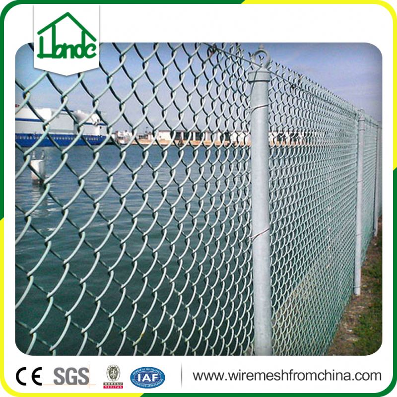 commercial color vinyl coated chain link fence