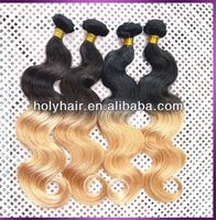 Different color human remy hair extension,two tone remy hair extension