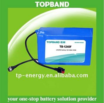 12V Lithium Rechargeable External Battery for Security System