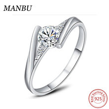 Infinite love 925 Sterling Silver Engagement Rings with zircon Wholesale