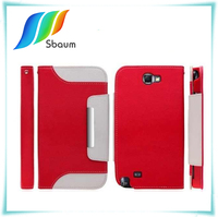 book style card holder mobile phone leather case for Samsung S5 cover protection