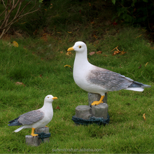 Mediterranean resin seagulls Standing on a tree stump for sale