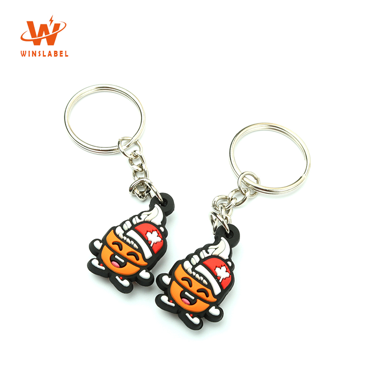 Private Brand Name 3D PVC Silicone Logo Custom Design Cartoon Rubber Keychains