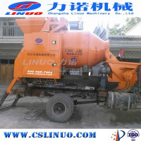 Electric Skid Steer Concrete Pump Portable Cement Mixer Combined With Pump Trailer Sand Mortar Mixing Pump