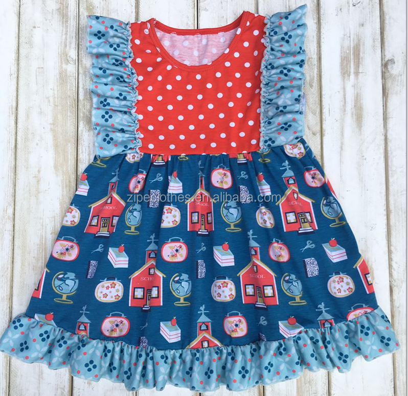Toddler girl's smocked girls summer dresses kids wholesale boutique clothing china factory