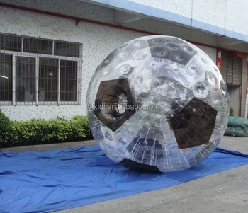 Best TPU or PVC material 3m dia inflatable zorb ball, zorb football D1006C