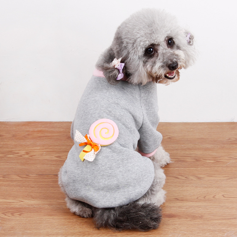 2016 latest pet winter clothes,fashion lollipop pet dog clothing