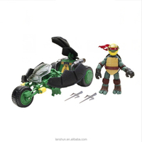 Teenage Mutant Ninja Turtles Ninja Battle Boost Ninja AT-3 Car Leo Figure No Box