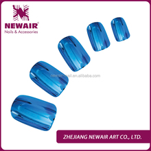 Plain Decorated metallic artificial plastic false nails arts tips