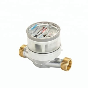 "Factory Wholesale 1/2"" Single Jet Dry Aluminium Bypass Water Meter Class B"