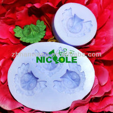 Nicole animal owl gum paste molds cake icing tools zibo silicone fondant cake decorating tools F0093