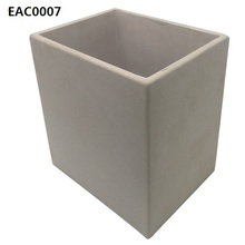Simple design vintage style big concrete pot flower / rectangular plant pot as garden decoration