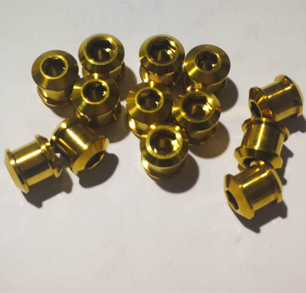 RockBros Titanium Ti Crankset Chainring Bolts Nuts M8 for Road Bike MTB 5pcs